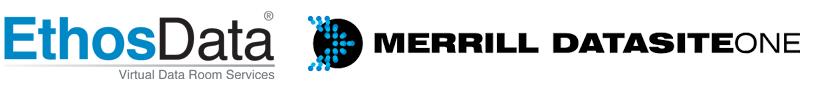 EthosData dataroom vs Merrill datasiteone