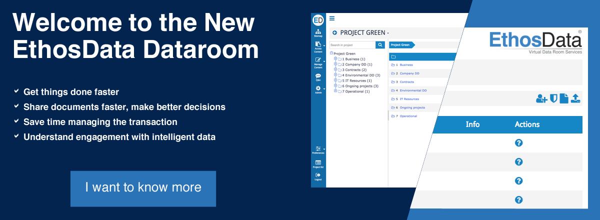 EthosData launches new dataroom